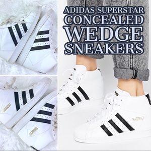 adidas superstar high wedge